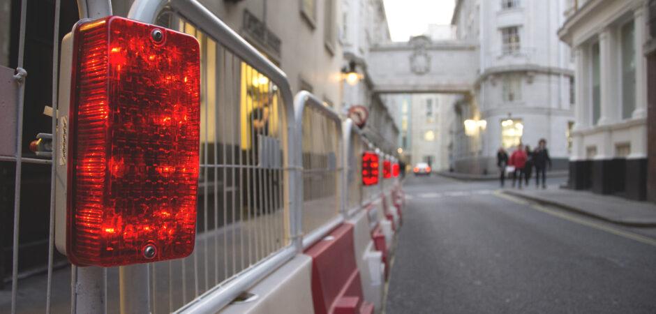 Battery Powered Hoarding Light (Red)